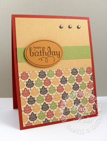 Stampin up autumn spice designer series card 2