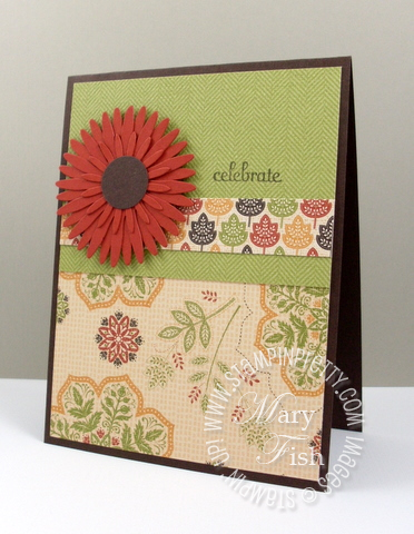 Stampin up autumn spice designer series card 3