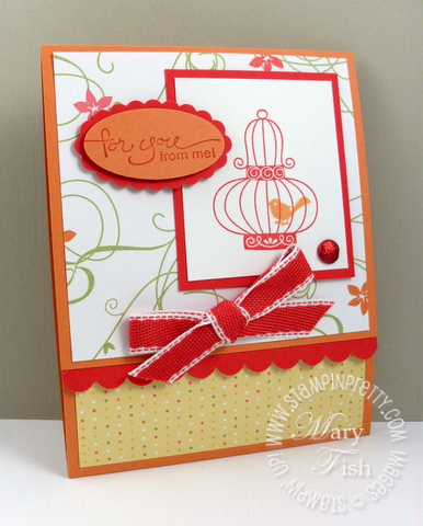 Stampin up aviary gift certificate closed