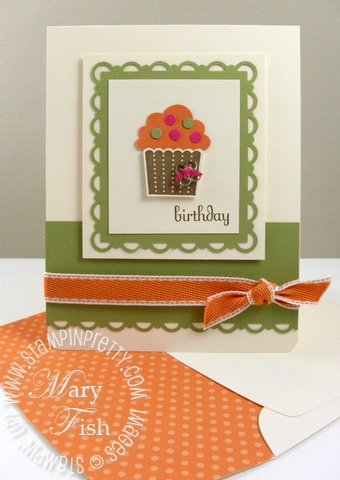 Stampin up cupcake punch video scallop border video tutorial