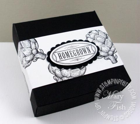 Stampin up homegrown artichoke pizza box