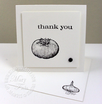 Stampin up homegrown tomato notecard