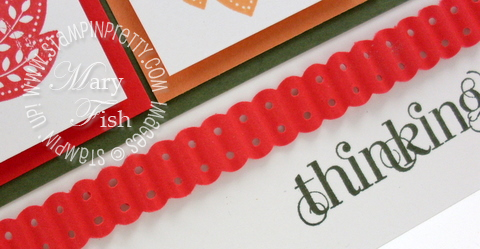 Stampin up pals paper arts video tutorial dotted scallop ribbon border punch