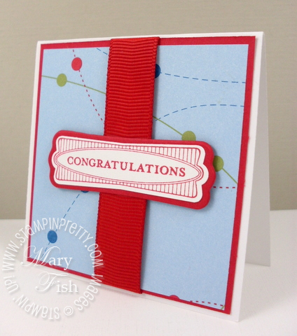 Stampin up perfect punches congratulations