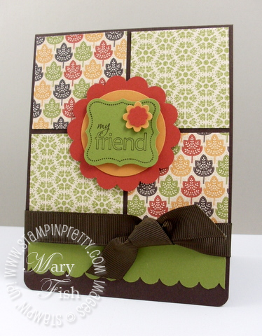 Stampin up autumn spice designer series card  4