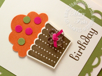 Stampin up cupcake punch clear bitty button