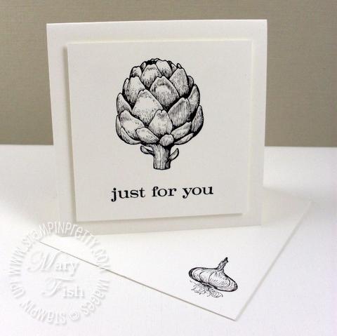 Stampin up homegrown artichoke notecard