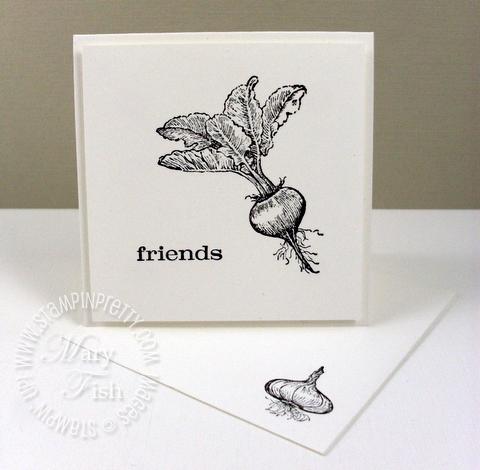 Stampin up homegrown beet notecard