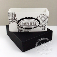 Stampin up homegrown pizza box belly band