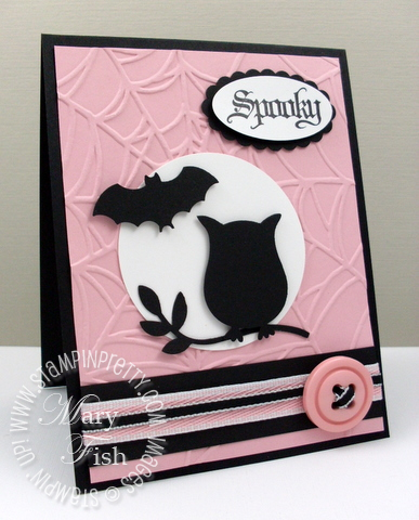 Stampin up mojo monday owl bat punch