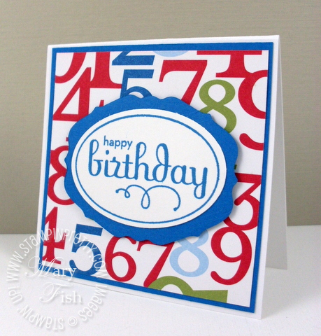 Stampin up perfect punches happy birthday