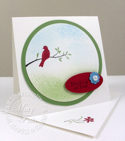Stampin up silhouette sentiments video tutorial and mini square envelope