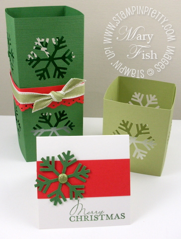 Stampin up snowflake punch luminaria group