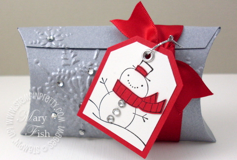 Stampin up christmas cute pillow box