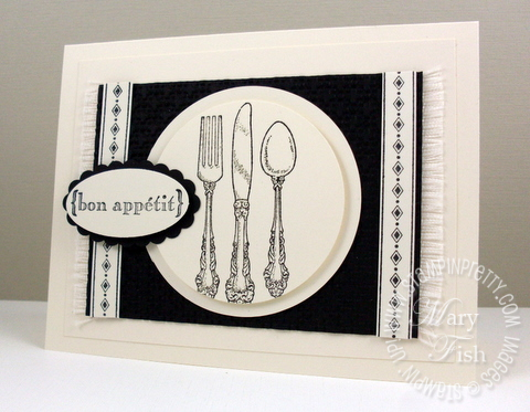 Stampin up compliments to the chef holiday menu invitation