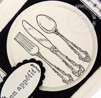 Stampin up bon appetit table setting