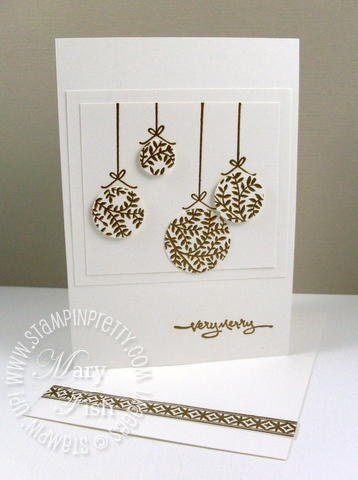 Stampin up pendant park ornament video tutorial