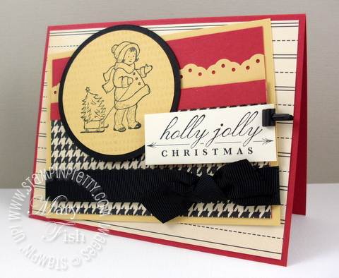 Stampin up greeting card kids holiday mojo monday