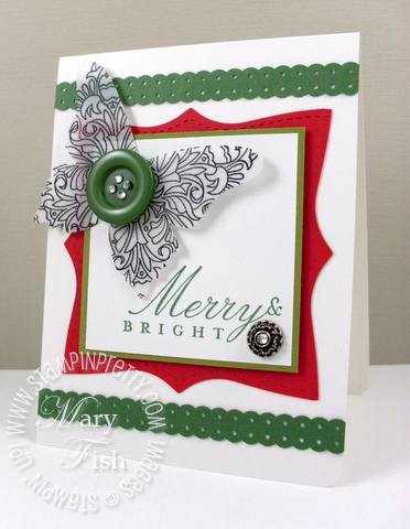 Stampin up big shot butterfly fine flourish holiday