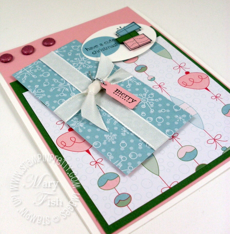 Stampin up mojo monday candy cane christmas