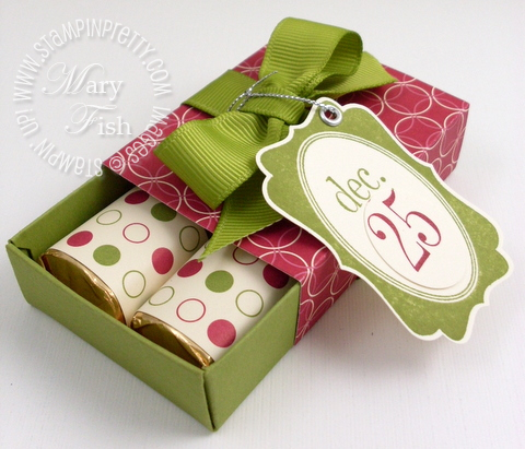 Stampin up matchbox nuggets tags til christmas open