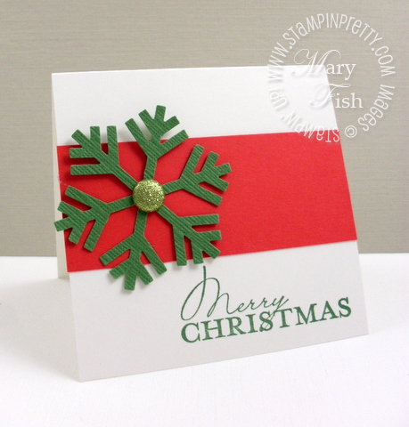 Stampin up contempo christmas card