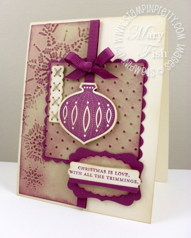 Stampin up mojo monday contempo christmas