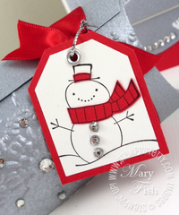 Stampin up cute christmas snowman tag punch