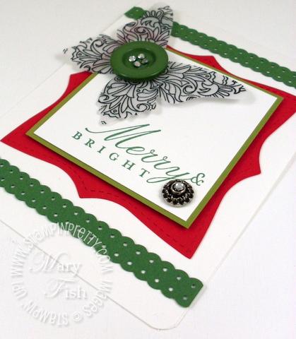 Stampin up bright christmas holiday card