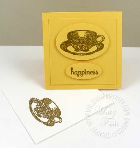 Stampin up timeless treasures video tutorial teacup