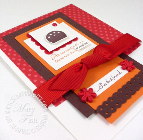 Stampin up eat chocolate stampin pretty