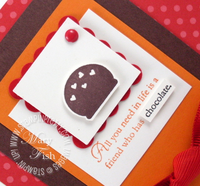 Stampin up eat chocolate bon bon