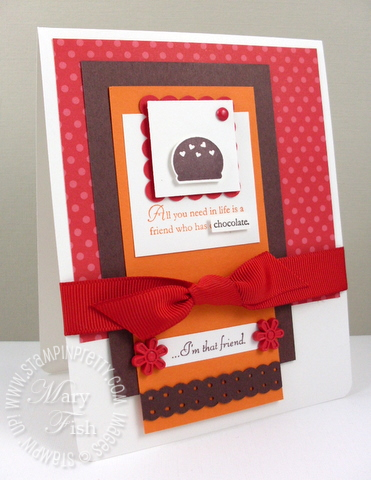 Stampin up occasions mini catalog eat chocolate