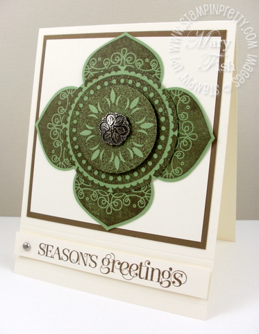 Stampin up curly cute ornament punch