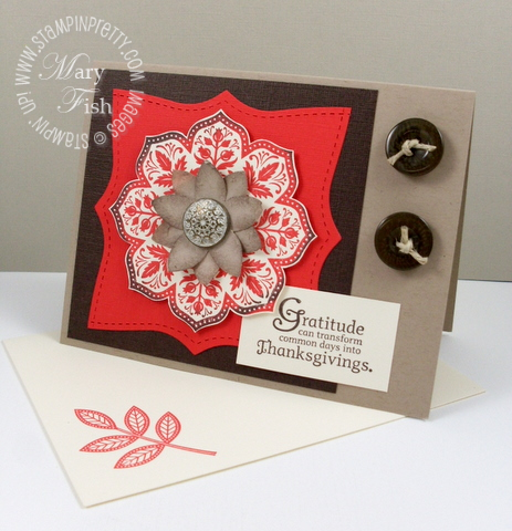 Stampin up day of gratitude thanksgiving card video tutorial