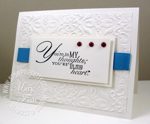 Stampin up word play big shot sympathy