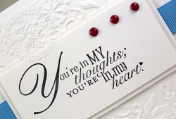 Stampin up word play sympathy card