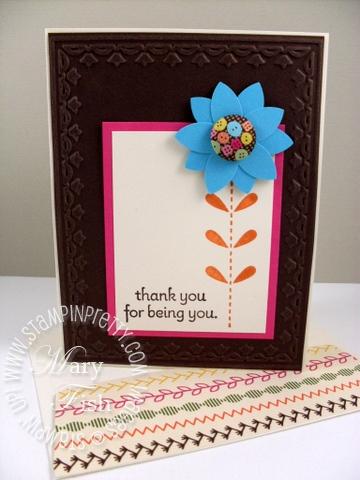 Stampin up occasions mini sweet stiches bold blossom