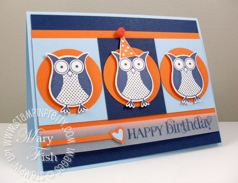 Stampin up saleabration punch bunch owl