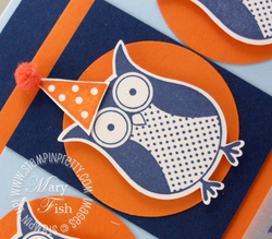 Stampin up saleabration owl punch