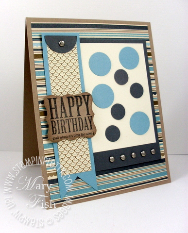 Stampin up masculine birthday afterthoughts