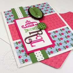 Stampin up broadsheet alphabet sweet stitches designer brad