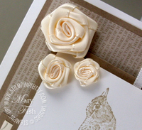 Stampin up nature occasions mini rosettes