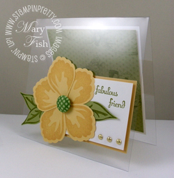 Stampin up build a blossom window sheet card