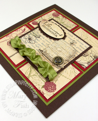 Stampin up mojo monday scrunch ribbon video tutorial