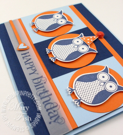 Stampin up birthday card owl punch