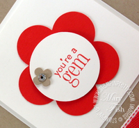 Stampin up fancy flower punch youre a gem