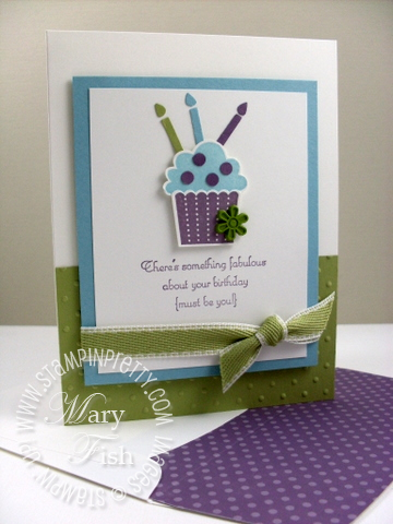 Stampin pretty create a cupcake punch birthday