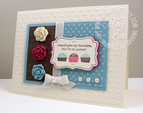 Stampin up eat chocolate mojo monday