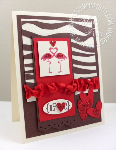 Stampin up valentine defined animal print video tutorial